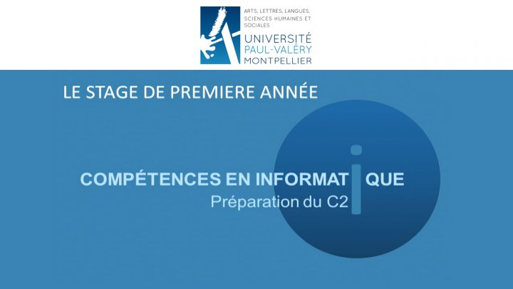 Preparation du C2i - Rentree universitaire septembre 2016